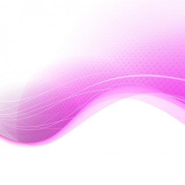 Modern pink transparent background template