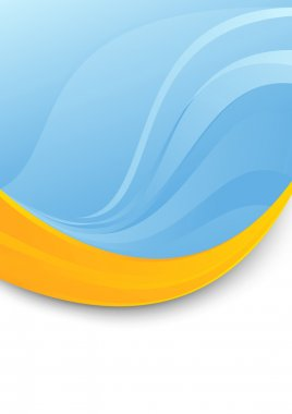 Blue folder template - orange swoosh