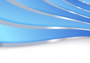 Blue folder template metal borders