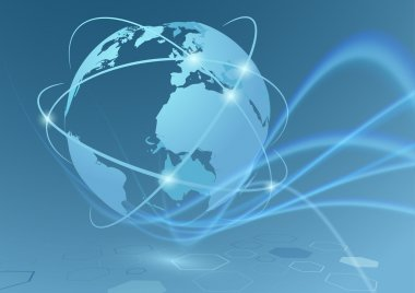 Global trade connections travel communication relations