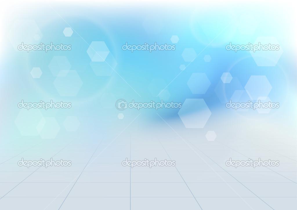 Vivace Sfondo Blu Trasparente Bokeh Vettoriali Stock Phyzick