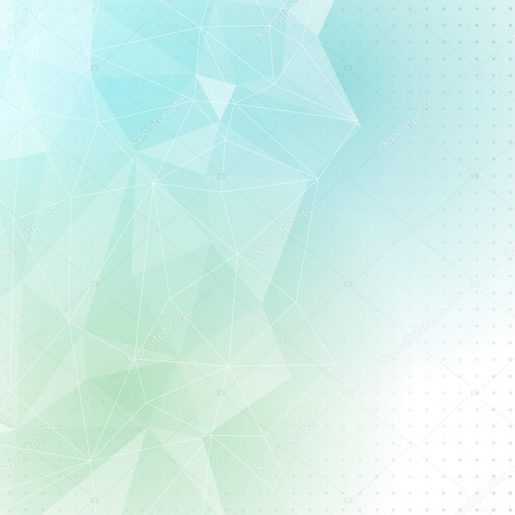 Estructura Cristalina Azul Verde Vector De Stock Phyzick