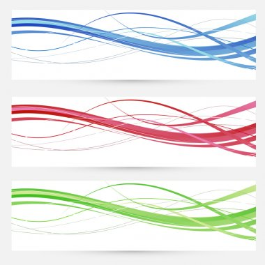 Colorful bright web headers lines collection. Vector illustration stock vector