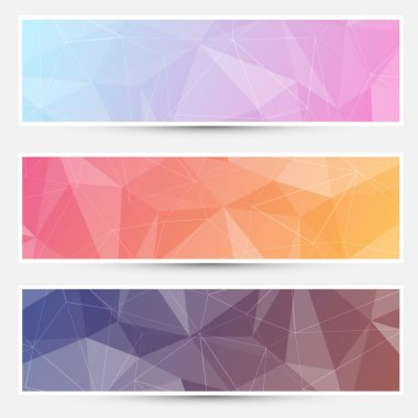 Modern crystal structure banners web