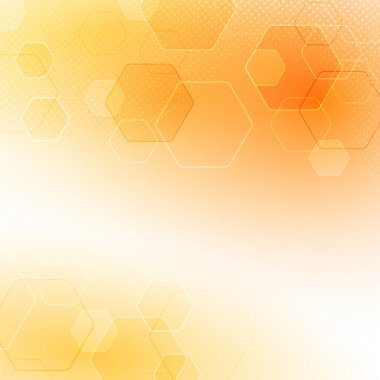Solar abstract hexagon background
