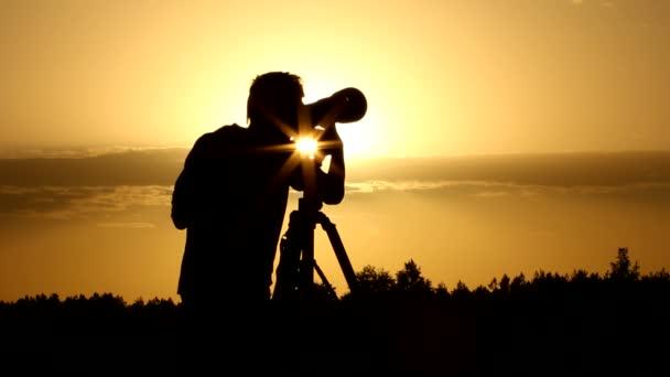 fotoaparát, fotograf, silueta