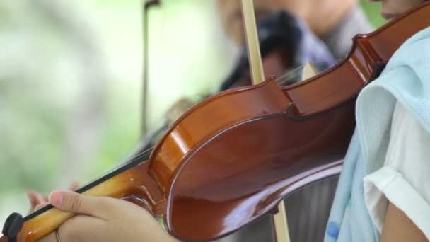 Spiel auf einer Geige