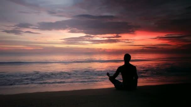 Yoga, Entspannung, Meer, dawn