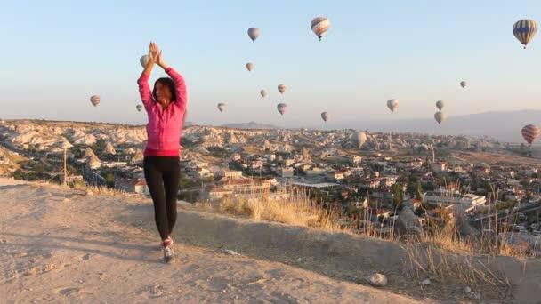 horkovzdušné balóny v Kappadokii