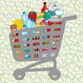 Fotografie Full shopping cart