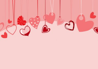 Vector illustration of Valentine's Day background, decorated with beautifull hearts. clip art vector