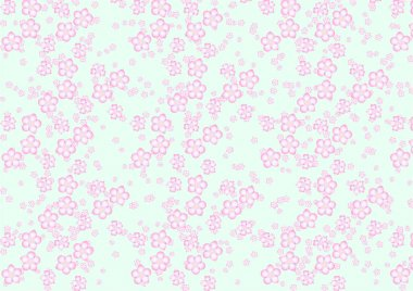 sakura flowers pattern