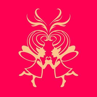 two simmetric fairies