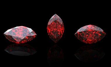 Garnet. Marquis. Jewelry gems