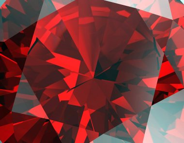 Red Facet  Ruby Background