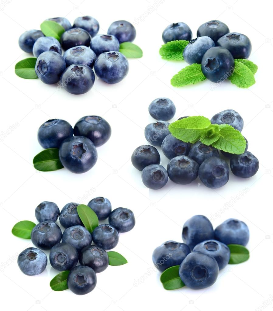 Collage of blueberries