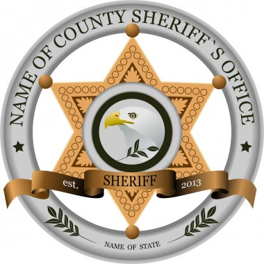 Sheriff`s badge