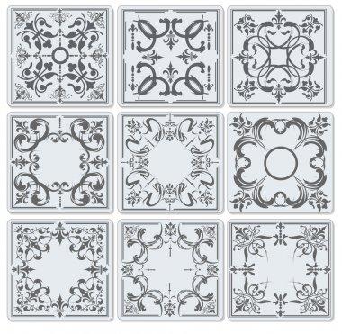 Decorative finishing ceramic tiles. vector illustration clip art vector