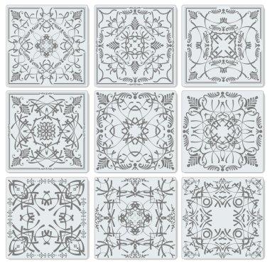 Decorative finishing ceramic tiles