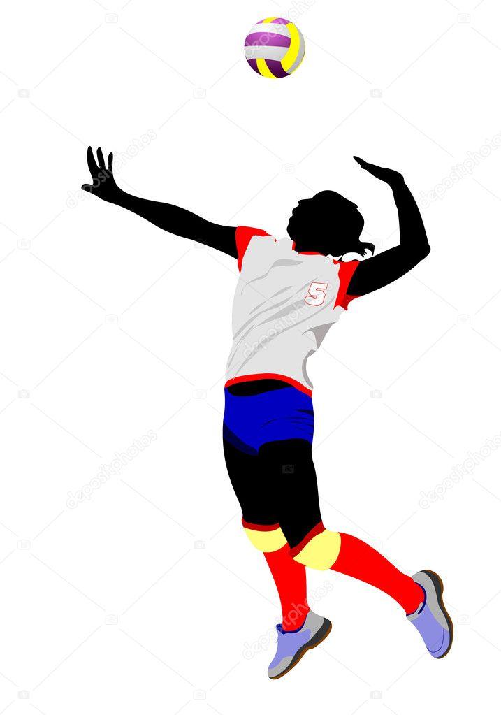 Chicas jugando voley para colorear | silueta de voleibol mujeres ...