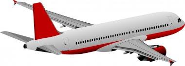 Plane colored vector illustration for designers stock vector