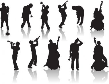Jazz People silhouettes