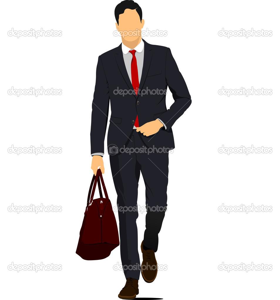jeune homme avec sac main image vectorielle leonido 34981303. Black Bedroom Furniture Sets. Home Design Ideas