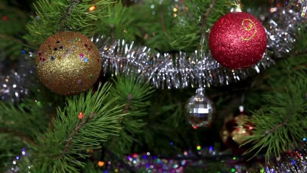 Weihnachtsbaum funkeln Lichter, voll hd