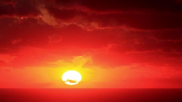 timelapse západ slunce na moři. Krym, Ukrajina. plné hd