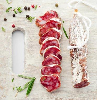 Platter with salami