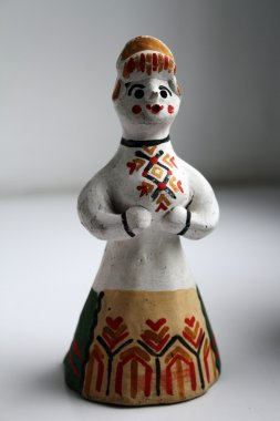 Russian folk clay toy