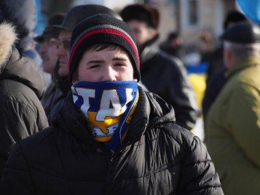 Anti-government protest in Lugansk