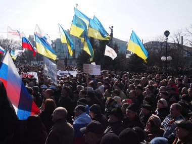 Pro-Russian rally in Lugansk
