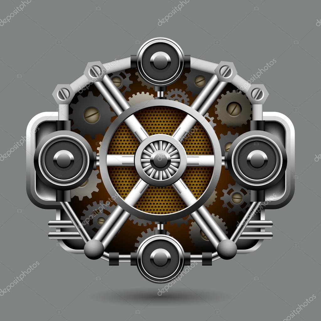 Industrial abstract background