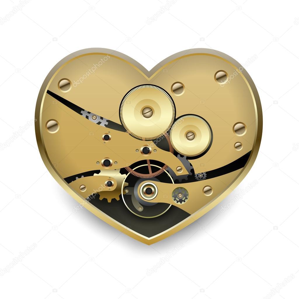 Coeur Steampunk steampunk métal coeur — image vectorielle ottoshtekker © #28947251