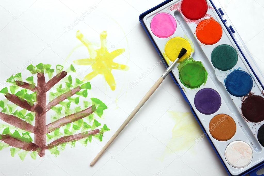 Pinturas con acuarelas para niños   los niños de dibujo y pinturas ...