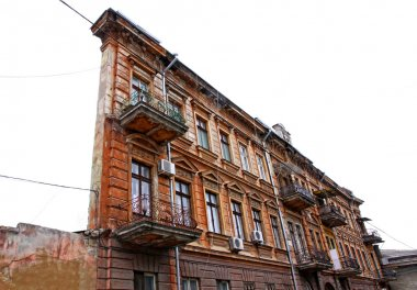 Famous One-Wall building in Odessa, Ukraine