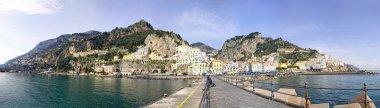 Panoramic view of Amalfi city, Italy