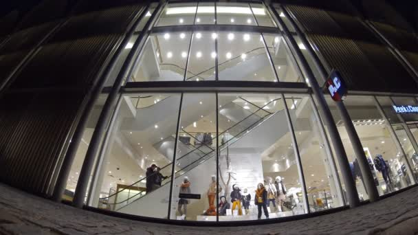 People walking at shopping mall in Luebeck, Germany (Time Lapse)