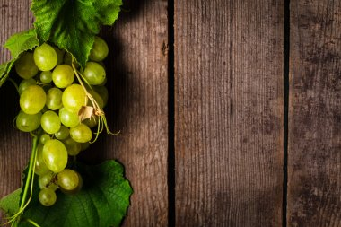 Grapes with leaves