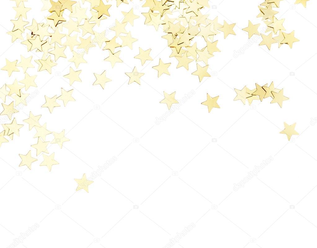golden stars isolated