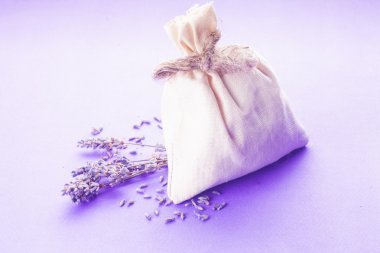 lavender spa set isolated