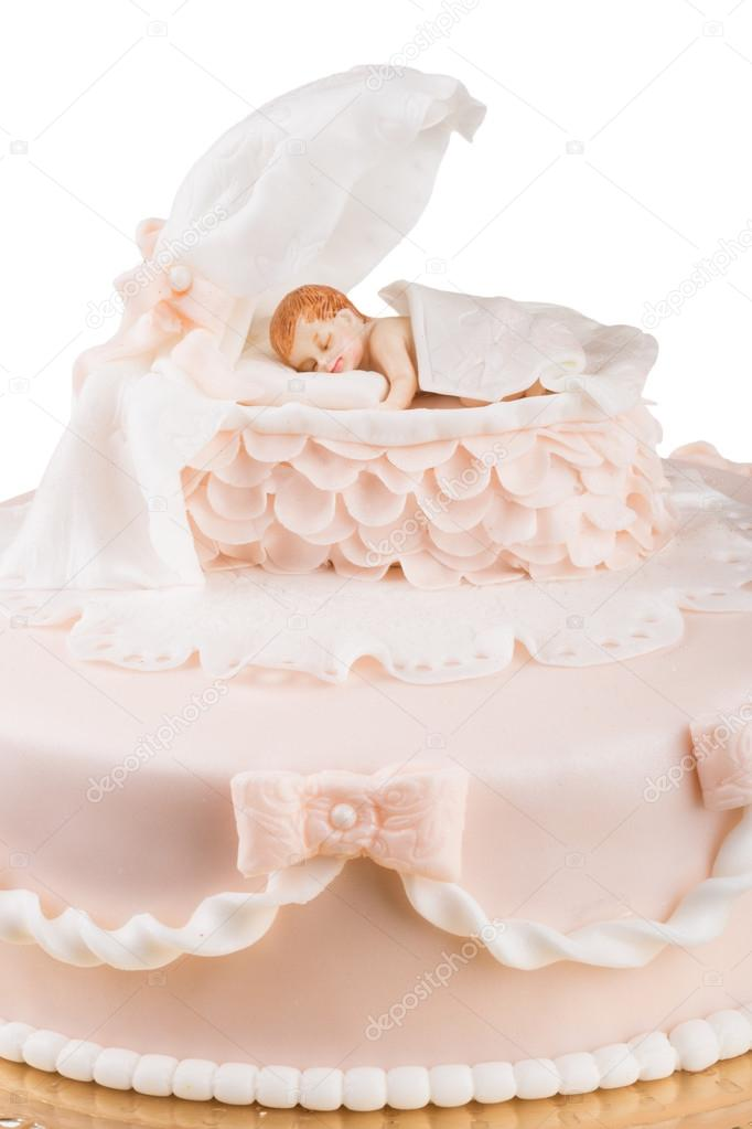 Handmande Birthday Cake Shot In A Closeup Scene Stock Photo