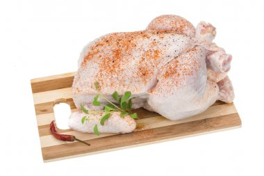 Raw chicken with paprika
