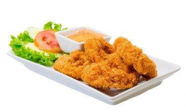 Shrimp meat stock vector