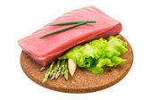 Fotografie syrové steak z tuňáka