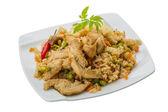 Fényképek Sült csirke rizzsel