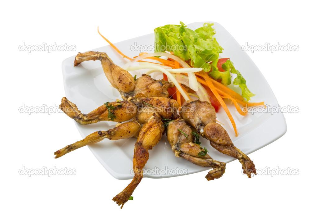Französische küche froschschenkel  Gegrillter Froschschenkel — Stockfoto © AndreySt #45902041