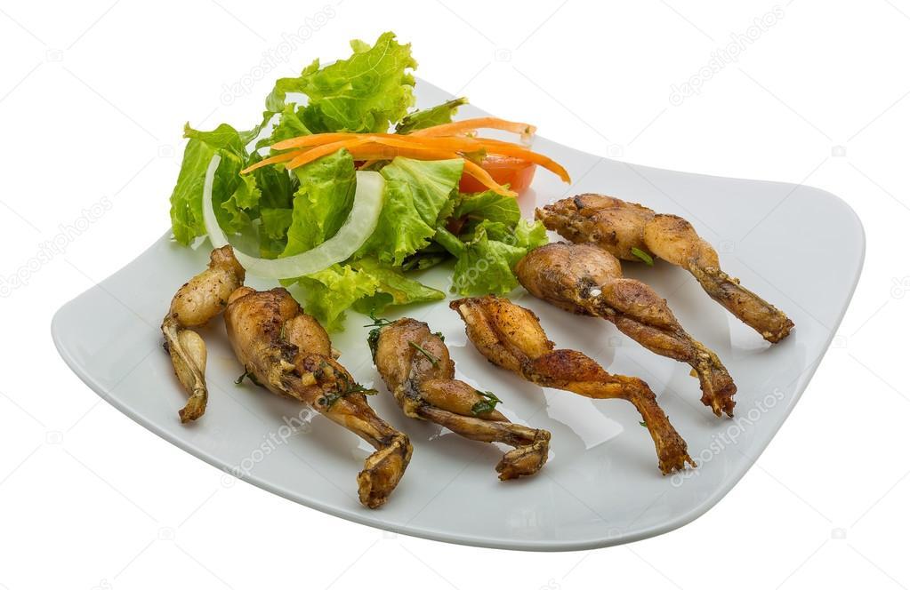 Gegrillter Froschschenkel — Stockfoto © AndreySt #51194971 | {Französische küche froschschenkel 90}