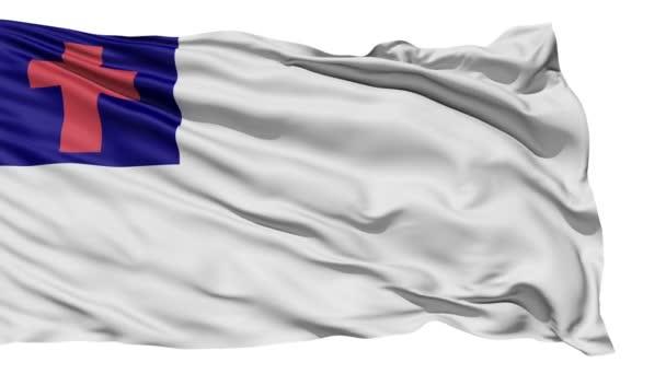 Fluttering White Christian Flag